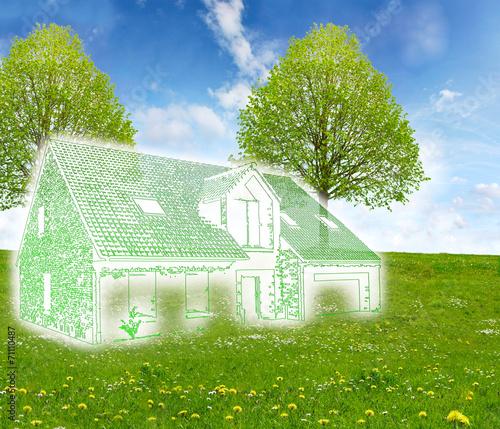 Projet construction maison individuelle photo libre de for Projet construction maison individuelle