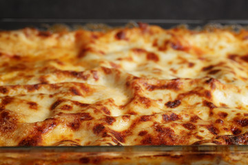 cooking italian homemade lasagna