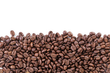 freshly roasted coffee beans border