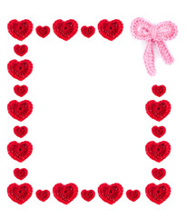Hearts and bow frame