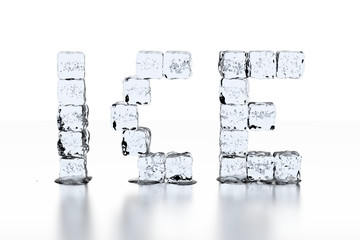 Ice Cube letters ICE - neutral white