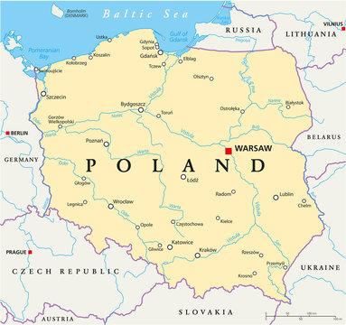 Poland Political Map