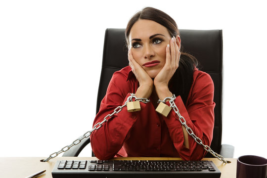 chained to work
