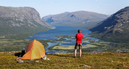 Camp over Rautasvaggi in Sweden