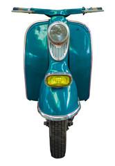 Fotorolgordijn Scooter Isolated Blue Vintage Scooter