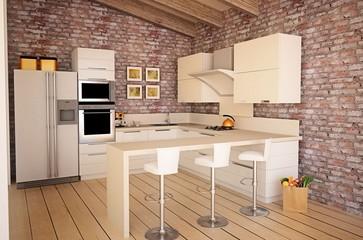 Küche im Loft