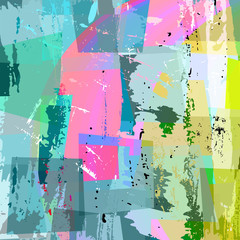 abstract background composition, with strokes and splashes, half