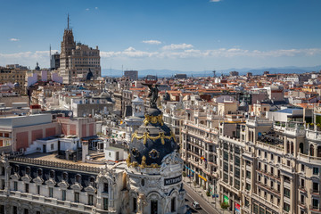 View from the roofes of Madrid