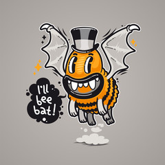 Cartoon Monster I'll Bee Bat