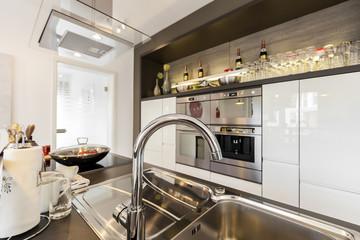 Wohnküche Wasserhahn