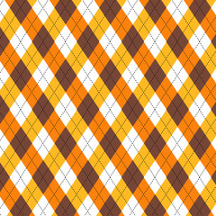Seamless Autumn argyle repeating pattern