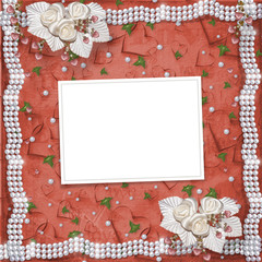 Card for anniversary or congratulation to St. Valentine's Day wi