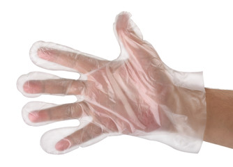 Hand in  plastic glove Wall mural