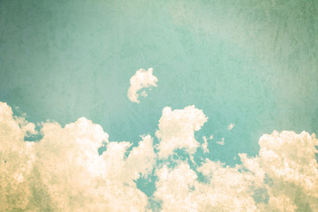 retro color tone of Clouds with blue sky in sunny day