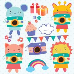 animals camera clip art