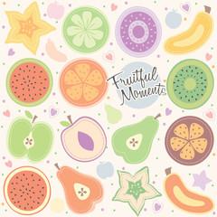 fruity moment background illustration