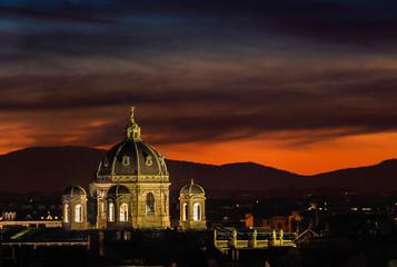Закат в Вене