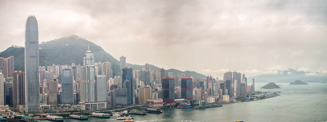Fotorollo Hongkong HONG KONG - MAY 12, 2014: Stunning panoramic view of Hong Kong I