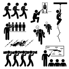 Soldier Military Training Clipart