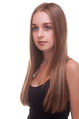 Fototapete - Beautiful caucasian girl smiling