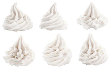 Set of decorative swirls for dessert toppings