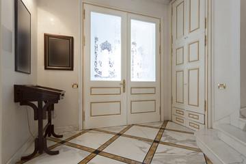 Luxury hotel entrance