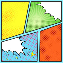 Pop-art comic page sheet template