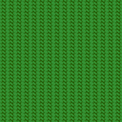 Green knitted pattern. Vector illustration