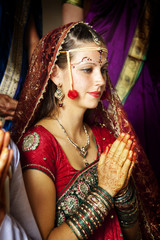 Bride during an Indian wedding ceremony