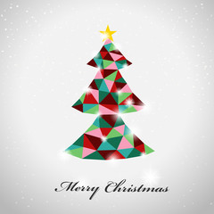 geometric style colorful Christmas tree