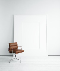 Blank picture and chair