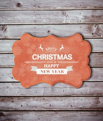 Composite image of banner and logo saying merry christmas
