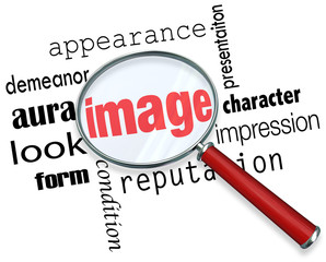 Image Magnifying Glass Appearance Impression Demeanor Words