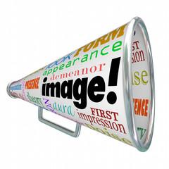 Image Word Bullhorn Megaphone Appearance Impression