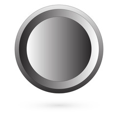 Metal button. Raster