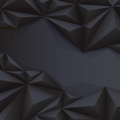 Black vector geometric background.