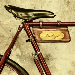 Detail of a vintage bicycle