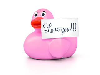 Rubber Ducky Love You