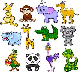 Set of wild animals third