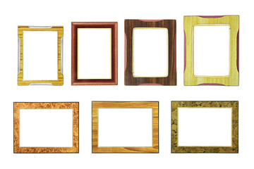 Collection of vintage wooden frame eastern style