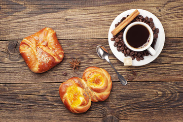 Coffee and sweet buns