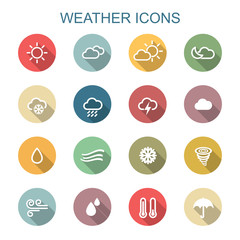 weather long shadow icons