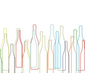 Background with bottles set
