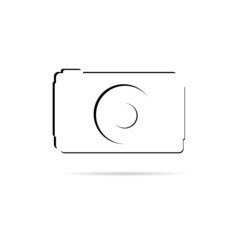 camera line vector illustration