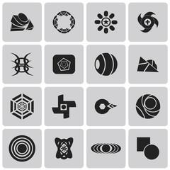 geometric figures Black icons set3. Vector Illustration eps10