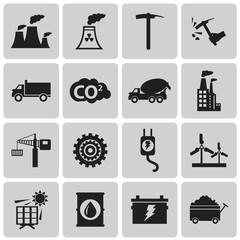 Industry Black icons  set. Vector Illustration eps10