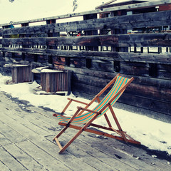 lounge chair at ski resort(Alps), instagram effect