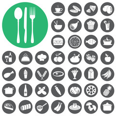 Breakfast and Dining Icons set. Vector Illustration eps10