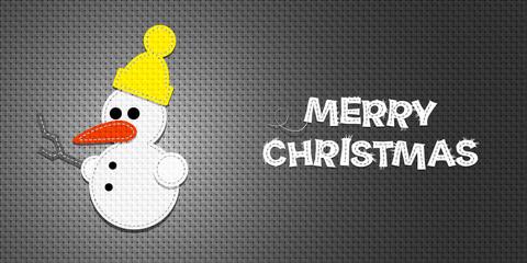 Vector Christmas Snowman
