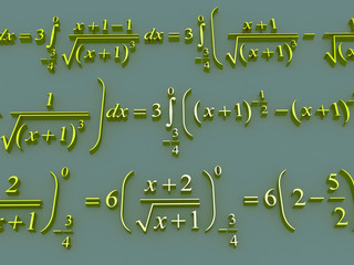 Mathematical formulas.